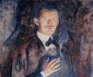 Edvard Munch - Self portrait