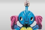 Jeff Koons sample of 'inflatable-looking' sculpture