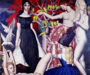 Les Perruches, 1925, Jean Dupas