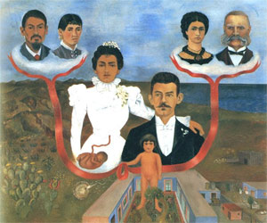"My Grandparents, My Parents, and I"", 1936, Frida Kahlo"