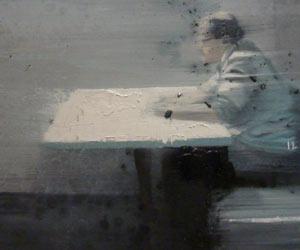En attendant 70x70cm, oil on canvas