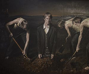 The Accountants - a painting by Danish artist Jacob Rantzau