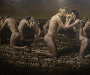 The Narcisists - a painting by Danish artist Jacob Rantzau