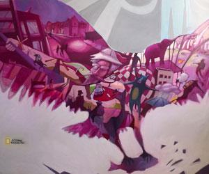 Alejandro Saavedra - painting alled 'aguila' (eagle)