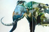 Mamut - painting of Alejandro Saavedra