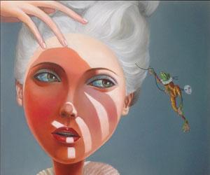 Terri Duan - I look I don't see 60x60cm oil on canvas