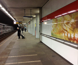 Art by Lisa van Noorden at RET Metro Station