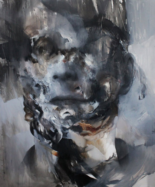 Selfportrait by Daniel Martin: 150x180cm Oil on canvas