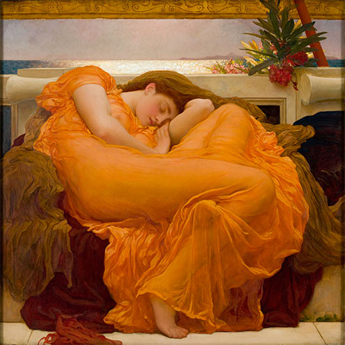 Frederic Leighton's Flaming June, 1895; Museo de Arte de Ponce.