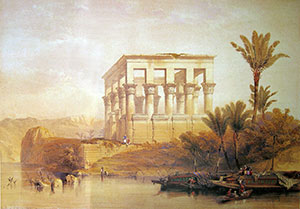David Roberts - Hypaethral Temple Philae