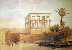 David Roberts - Hypaethral Temple Philae
