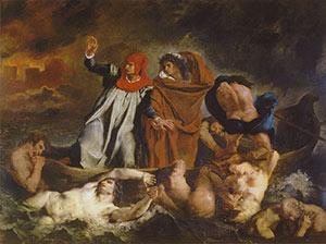 Barque of Dante by Eugène Ferdinand Victor Delacroix