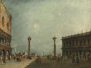 Francesco Guardi (1712-1793) A pair of Venetian views – the second: The Piazzetta,