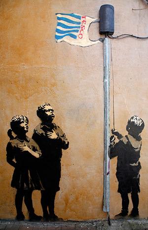 mural by Banksy
