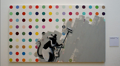 A Canvas attributed to Banksy