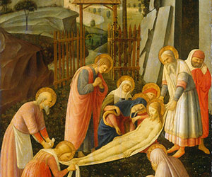 Attributed to Fra Angelico The Entombment of Christ c. 1450 Painting