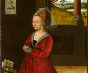 Petrus Christus Portrait of a Female Donor c. 1455 Painting